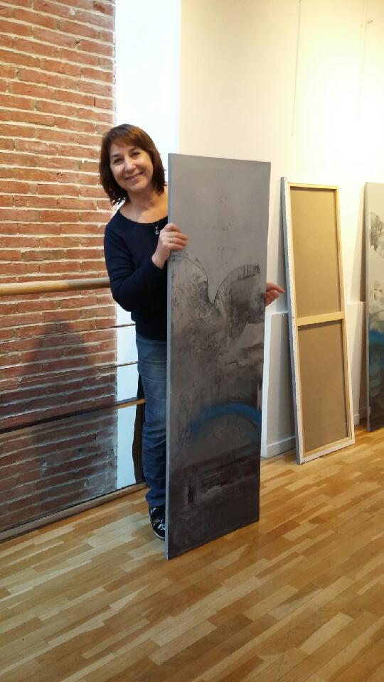 Montage de l'exposition de la galerie de l'escale de la ville de Levallois-Perret (92)